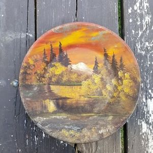 Vintage Oil Painted Alaska Landscape Metal…